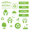 Ecological Elements Symbols And Signs Stock Image - 43492341