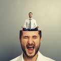 Stressed Man And Calm Businessman Stock Image - 43495841
