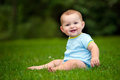 Summer Portrait Of Happy Baby Boy Infant Outdoors Royalty Free Stock Photos - 43496418