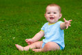 Summer Portrait Of Happy Baby Boy Infant Outdoors Stock Images - 43496434