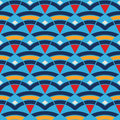 Pattern With Waves And Triangles Royalty Free Stock Photography - 43496467