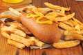 Corn Dog With Fries Royalty Free Stock Photos - 43497278