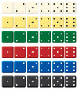 Color Dices Set. Royalty Free Stock Images - 4356559