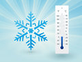 Snowflake With A Thermometer Royalty Free Stock Image - 43500866