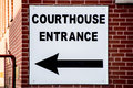 Courthouse Sign On Brick Building Stock Photos - 43524933