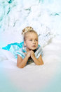 Little Girl In Princess Dress On A Background Of A Winter Fairy Royalty Free Stock Photo - 43526165
