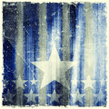 Pattern Of Stripes And Stars On Grunge Background Royalty Free Stock Image - 43537976