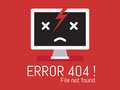 404 Error File Not Found Royalty Free Stock Image - 43554136