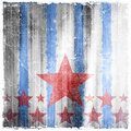Pattern Of Stripes And Stars On Grunge Background Stock Photo - 43565050