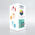 Modern Box Design Infographic Template Minimal Style . Royalty Free Stock Photography - 43569697
