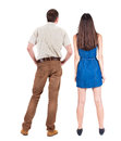 Back View Of Young Couple Royalty Free Stock Photography - 43573217