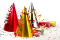 Party Hats With Streamers Royalty Free Stock Photo - 43582295