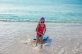 Adorable Little Girl In The Sea On Tropical Beach Royalty Free Stock Images - 43584299