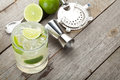 Classic Margarita Cocktail With Salty Rim Stock Photos - 43584653