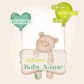Baby Bear With Balloons Royalty Free Stock Photo - 43587135