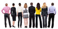 Back View Of  Business Team Looks Royalty Free Stock Image - 43592476