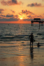 Tropical Sunset Royalty Free Stock Image - 4365596