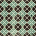Geometric Vintage Seamless Pattern With Aged Grunge Texture. Stock Photography - 43600972