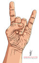 Rock On Hand Sign, Rock N Roll, Hard Rock, Heavy Metal, Music, D Royalty Free Stock Photo - 43601135