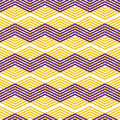 Zig Zag Geometric Pattern, Vector Retro Style Background. Royalty Free Stock Photography - 43602257