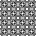 Seamless Geometric Pattern, Black And White Simple Vector Backgr Stock Photos - 43602893