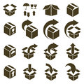 Packaging Boxes Icons Isolated On White Background Vector Set, P Stock Photos - 43603483