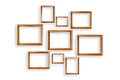 Set Of Picture Frames On White Background Stock Photos - 43606033
