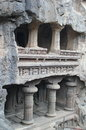 Ellora Caves, Ancient Hindu Stone Carved Temple, Cave No 16,India Royalty Free Stock Images - 43608699
