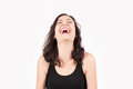 Young Brunette European Woman Laughing Royalty Free Stock Image - 43608756