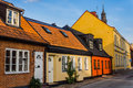 Charming Small Houses In Ystad Stock Photography - 43614012