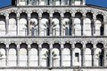 Details Of The Facade Of The San Martino Cathedral In Lucca Stock Image - 43617581