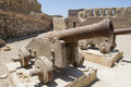 Old Cannons At A Roman Fort Stock Photography - 43619092