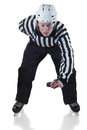Hockey Referee On Face Off Position Stock Photo - 43624790