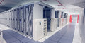 Empty Hallway Of Server Towers Stock Images - 43628414