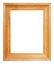 Vertical Simple Wide Brown Wooden Picture Frame Royalty Free Stock Images - 43631849