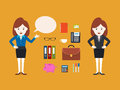 Character Businesswoman, Vector Illustration Stock Images - 43631974