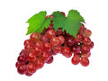 Red Grape With Leaf Isolated On White Background Royalty Free Stock Photos - 43637038