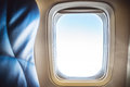 Airplane Seat And Window Royalty Free Stock Photos - 43637568