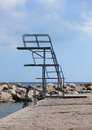 Outdoor Metal Diving Tower In Two Decks Stock Photography - 43642562
