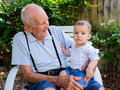 Baby Boy With Great Grandfather Stock Photo - 43647810