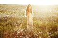 Young Beautiful Girl On A Summer Field. Beauty Summertime Royalty Free Stock Photos - 43655118