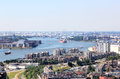 Rotterdam Port Seen From Euromast, Holland Royalty Free Stock Photography - 43662407