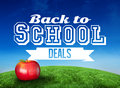 Composite Image Of Red Apple With Back To School Message Stock Image - 43672441