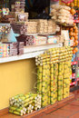 Sweets Stand In Banos, Ecuador Stock Image - 43684751