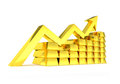 Gold Index Chart Golden Ingots Royalty Free Stock Photography - 43693427