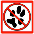 No Pets Allowed Stock Images - 4375554