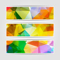 Abstract Set Of Colorful Banners With Modern Triangular Polygona Stock Photo - 43700520