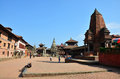 Traveler And Nepalese People Come To Bhaktapur Durbar Square Stock Photo - 43710500