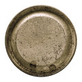 Aged Metal Texture In A Round Frame Isolated White Royalty Free Stock Photos - 43729498
