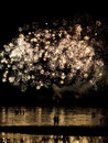 Couple Under Fireworks Stock Images - 43732204